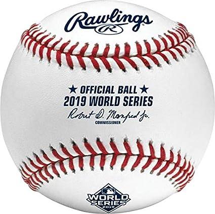 Amazon Com Rawlings 2019 World Series Mlb Official Game Baseball