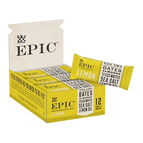 Epic Provisions EPIC Performance Bar Lemon, 16.83 oz, 9 Count ()