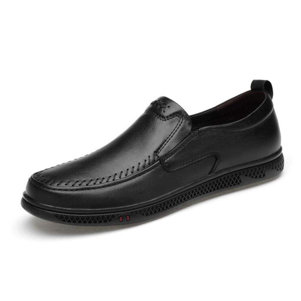 Hy Mens Casual schuhe, 2019 Frühjahr Neue Formal-Business-Schuhe, Hollow-Out, Mens Comfort Breathable Driving schuhe, Loafers & Slip-Ons,schwarz,41