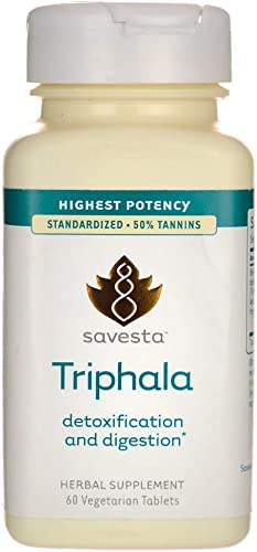 Triphala Detoxification and Digestion 60 Veg Tabs