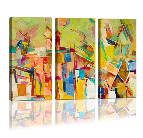Cao Gen Decor Art- 3 panels Framed Wall Art Abstract Print