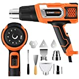electronic crafts - ENERTWIST Heat Gun 1500W Variable Temperature 140~932℉(60~500℃) Adjustable w/ 9 Attachment Kit Over Heating Protect for Crafts, Electronics, Shrink Wrapping, Vinyl Wrap, Paint Removing, Pipe Bending