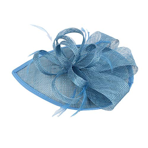 Weiliru Flower Cocktail Tea Party Headwear Feather Fascinators Top Hat for Girls and Women -