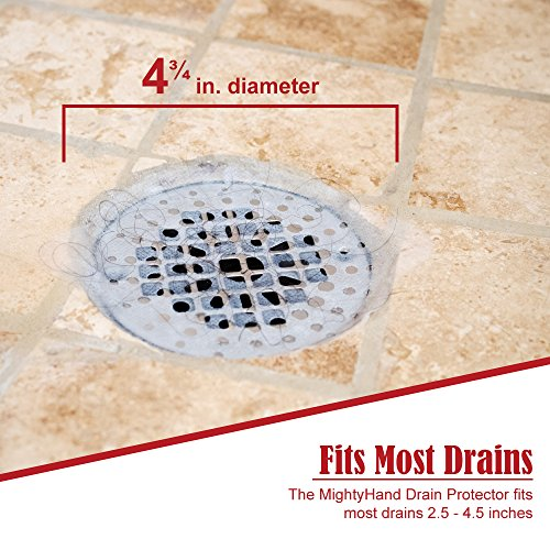 Mightyhand Disposable Drain Covers Protector Shower Drain Import