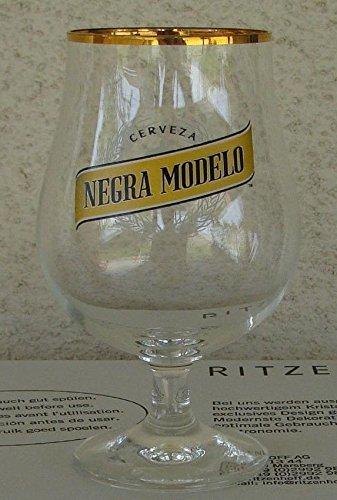 Negra Modelo Cerveza .4L Gold Rim Signature Tulip Style Chalice Glass