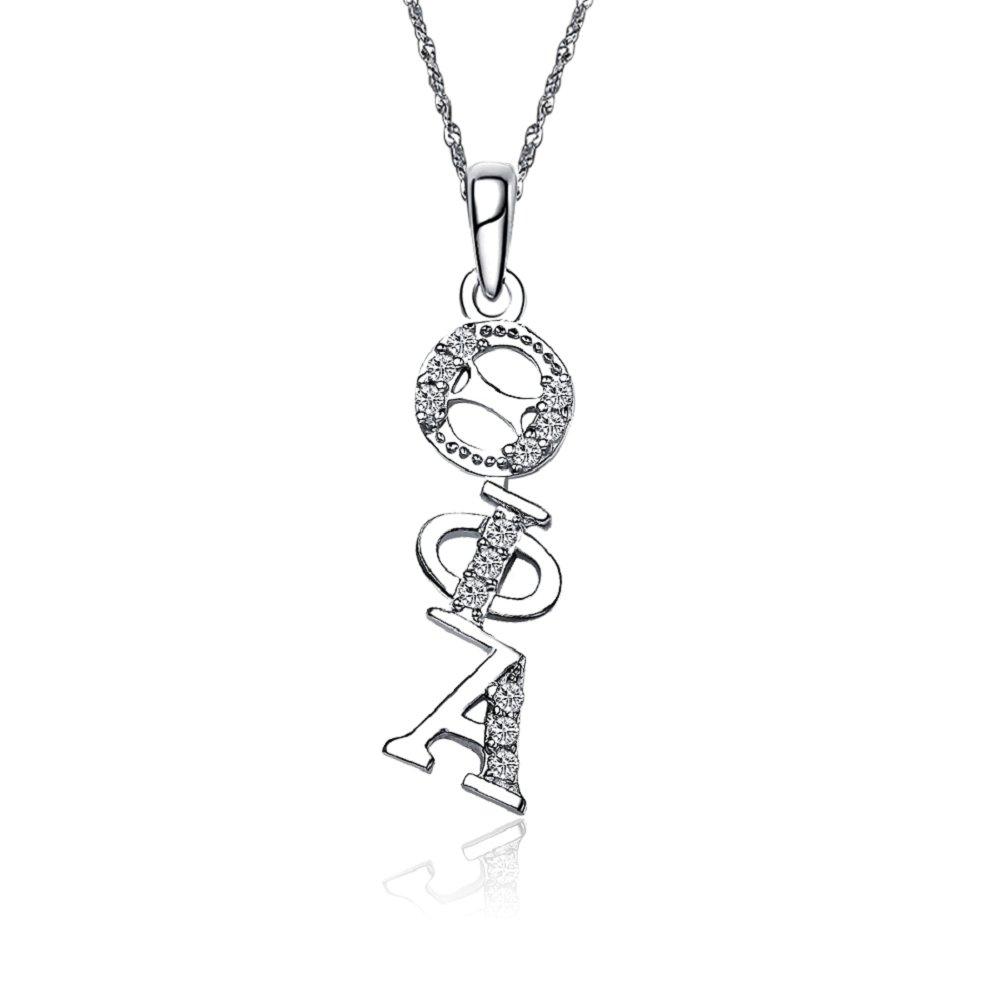 Theta Phi Alpha Diagonal Silver Lavalier