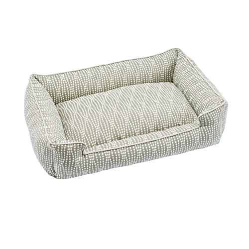 Donut Luxury Dog Bed (Jax and Bones Premium Cotton Blend Lounge Dog Bed, Pearl, Medium 32x27x10)