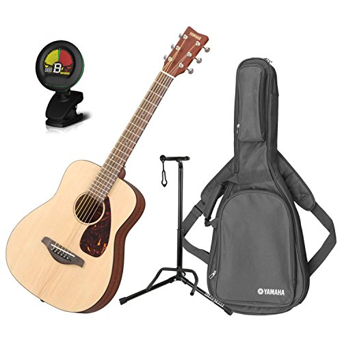 - Yamaha JR2 3/4 Scale Natural Folk Guitar w/Gig Bag, Stand, and Tuner