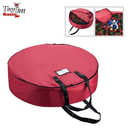 Tiny Tim Totes | Premium Holiday Christmas Wreath Storage Bag | Center Storage | 36