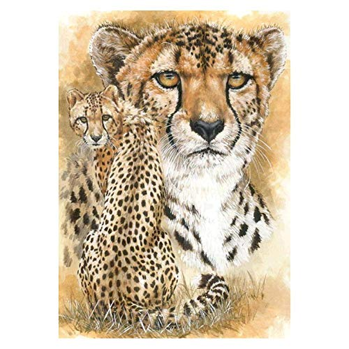 (Macrorun Leopard Full Drill 5D DIY Diamond Painting Cross Stitch Round Diamond Dotz Embroidery Rhinestones Mosaic Art Craft Kits Home Wall Picture Decoration 16