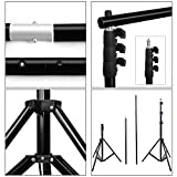 PHOTO MASTER Photography 10Ft x 9Ft Background Backdrop Stand Support System Kit Photo Studio Video Telescopic Crossbar Aluminum Carrybag