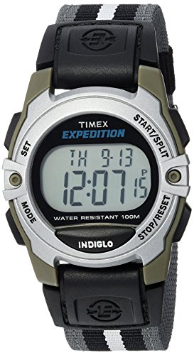 - Timex Unisex TWH2Z8710 Expedition Mid-Size Digital CAT Gray/Black/White Stripe Nylon Strap Watch