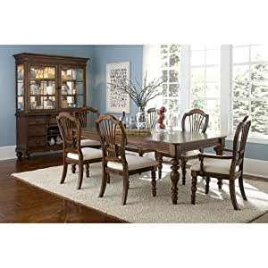 Hillsdale Pine Island 7 Piece Dining Table Set With Wheat Back S