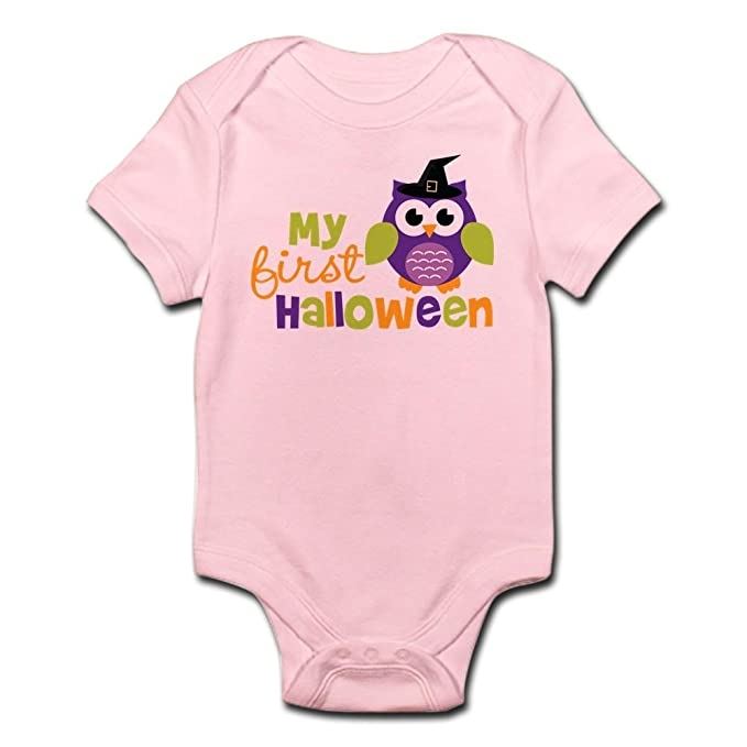 Amazon.com  CafePress My First Halloween Owl Cute Infant Bodysuit ... 054062d57