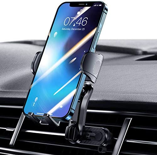 TiTpKing Cell Phone Holder for Car, Creative and Unique Air Vent Fixed Fixture, Double Air Vent Clamps Car Phone Holder Mount Design [Unimaginable Stable] Compatible with All iPhone Android Smartphone