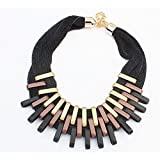 291# - 2 New Arrival Women Jewelry Pendant Choker Chunky Statement Chain Bib Necklace