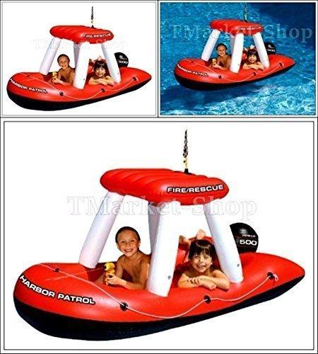 Swimline Inflatable Raft Lake Pond Giant Fireboat Squirte...