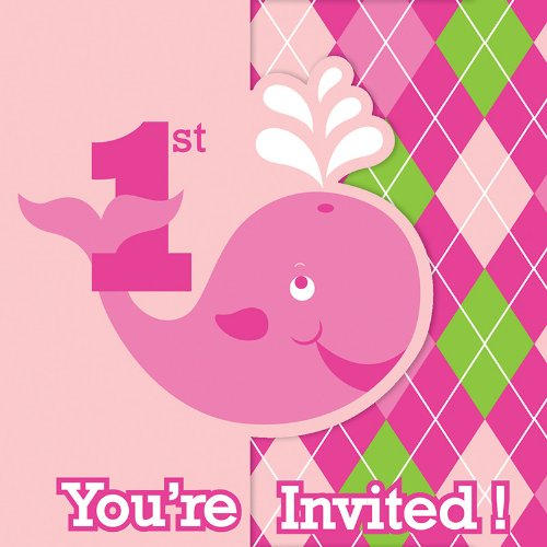 8 Count Creative Converting-Toys 890117 Creative Converting Ocean Preppy Girls Party Invitations