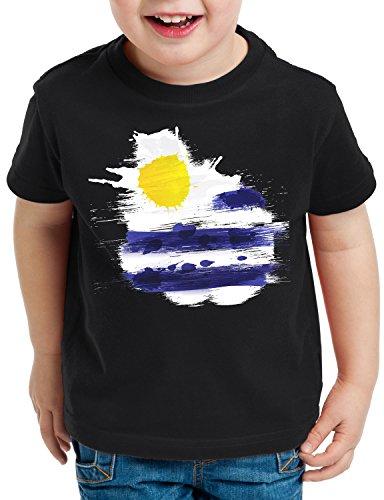 T Flagge WM Shirt Fußball Kinder Sport Schwarz Uruguay CottonCloud Fahne  Flag EM wtZdt ... be5eab5bee
