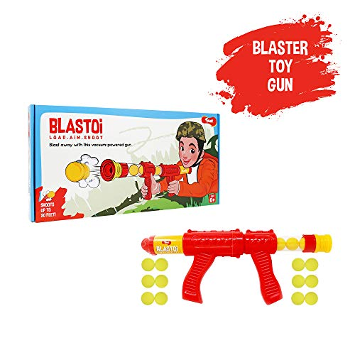 Toiing Blastoi - Super Fun, Exciting Air Popper Toy Gun for Kids with 12 Safe Soft Foam Bullets