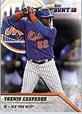 2016 Topps Bunt #153 Yoenis Cespedes New York Mets Baseball Card in Protective Screwdown Display Case