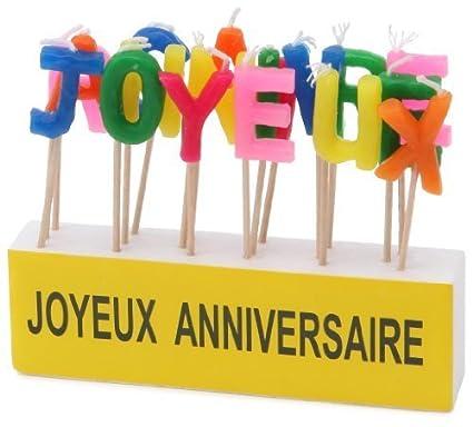 Amazon.com: Kim Play 621 velas en letras de cumpleaños ...