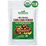 Camu Camu Powder Organic – 16 Ounce (1 Full LB) – Nutrient-Rich and Best Source of Vitamin C – Vegan & USDA Certified – Gluten Free – Perfect for Smoothies, Juices, Teas & Hot Beverages Review