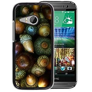 Planetar® ( Nut Green Autumn Acorn ) HTC ONE MINI 2 / M8 MINI Fundas Cover Cubre Hard Case Cover