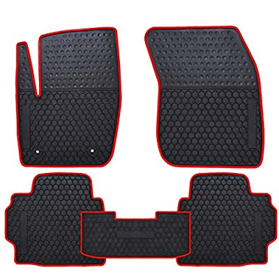 Ucaskin Car Floor Mats Custom Fit for Ford Fusion 2013 2014 2015 2016 2020 2020 2020 2020 Odorless Washable Rubber Foot Carpet Heavy Duty Anti-Slip All Weather Protection Car Floor Liner-Red: Automotive