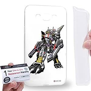 Case88 [Samsung Galaxy E7] Gel TPU Carcasa/Funda & Tarjeta de garantía - Digimon Adventure Augmon Black WarGreymon X 0935