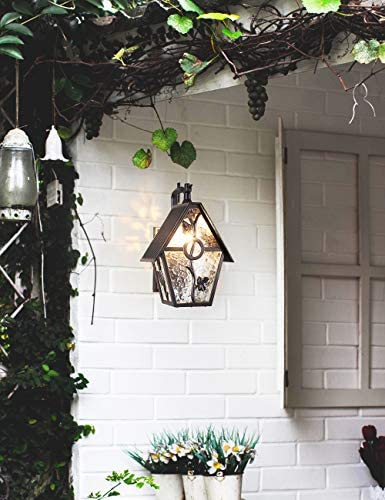 Rustic Outdoor Wall Lantern Exterior Wall Mounted Sconce Light Designer Style Outdoor Wall Light Fixture