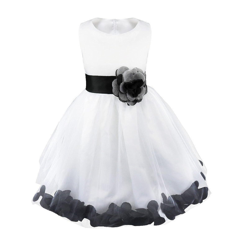 Amazon.com: iEFiEL Kids Wedding Party Bowknot Petals Flower Girl ...