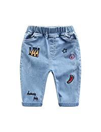 THECAT Baby Jeans Denim Jeans Cartoon Kids Clothing Infant Boys Trousers Baby Jeans