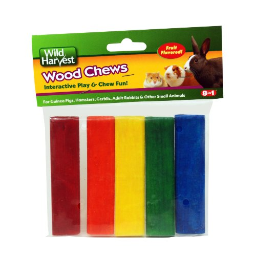 Wild Harvest P-84127 Colored Wood Chews for Small Animals, F