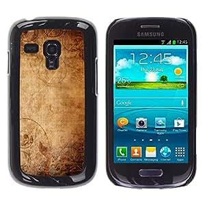 TECHCASE**Cubierta de la caja de protección la piel dura para el ** Samsung Galaxy S3 MINI NOT REGULAR! I8190 I8190N ** Wallpaper Ancient Old Paper Canvas Art