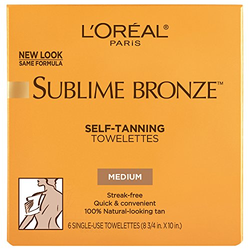 L'Oreal Paris Sublime Bronze Self-Tanning Towelettes 6 ct.