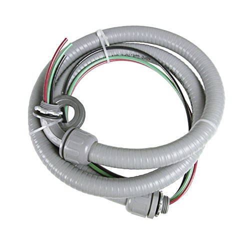 Zero 1/2inch6ft, #10THHN UL Approved Wire-Non-Metallic Connectors,Whip-Pre-Assembled,Conduit Kit,Liquid Tight Hook-Up Whip