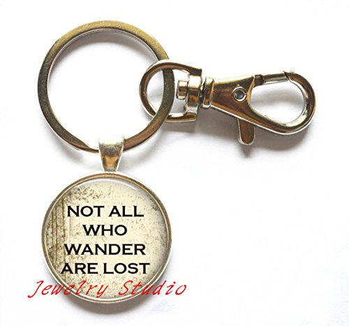 Lord Keychain (Gift Keychain,Not All Who Wander Are Lost Key Ring Lord Of The R Colar Keychain Vintage Bronze Jewelry Keychain,T0029)
