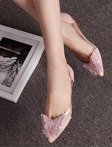 5 gris Flats PDX de 7 negro talón zapatos mujeres rosa Toe señaló us6 5 pink vestido las plano cn37 eu37 uk4 rojo 5 waw4Onq8
