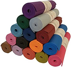 """Yoga Monster Mat 1/4""""x72"""" Extra Thick 17 Colors SGS Approved Non-Toxic PER No Phthalates or Latex by Bean Products™ - Purple"""