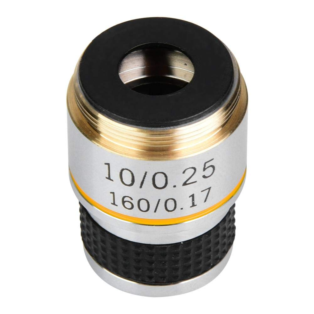 Achromatic Objective Lens,10X 185 Biological Microscope Achromatic Objectives Lens 160//0.17