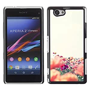 Paccase / SLIM PC / Aliminium Casa Carcasa Funda Case Cover - Colorful Field Flower Nature - Sony Xperia Z1 Compact D5503