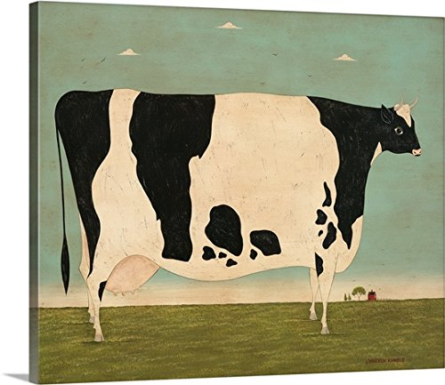 y-Wrapped Canvas entitled Large Vermont Cow (Warren Kimble Americana)