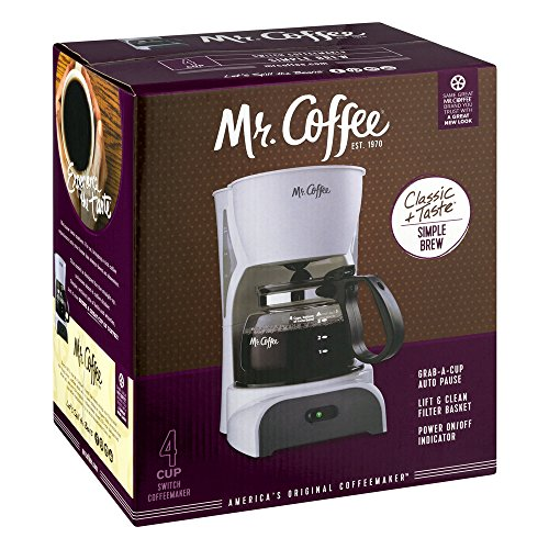 Mr Coffee Retro Coffee Maker : Coffee Makers: Mr. Coffee Simple Brew 4-Cup Switch Coffee Maker with Removable Filter, White ...