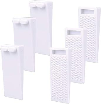 Heavy Duty No-Slip Adjustable Height and Stackable Door Stop Wedge Doorstop Work Well on All Surfaces Wedge Rubber Door Stoppers 6 Pack