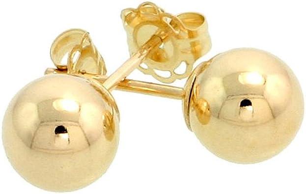 14k Yellow Gold 6mm Ball Earrings
