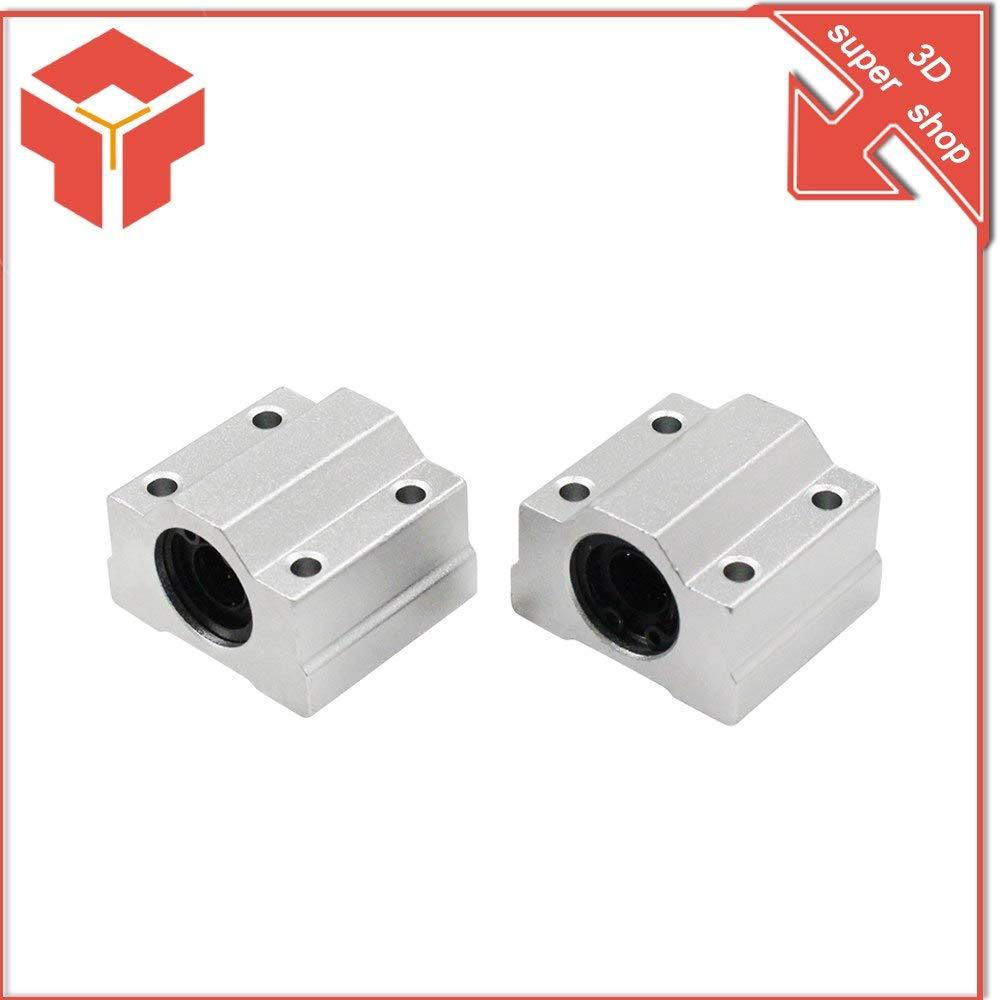 Impresora 3D - 4 piezas SC8UU SCS8UU 6UU 10UU 12UU Rodamientos de ...