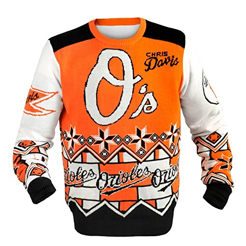 FOCO Baltimore Orioles Davis C. #19 Player Ugly Sweater Extra Large