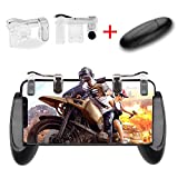 Mobile Game Controller OMUKY Mobile Grip and Gaming Trigger Fire Button,Sensitive Shoot and Aim Triggers for PUBG/Knives Out/Rules of Survival Apply To Android,Iphone (Transparent)
