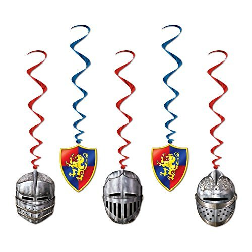 Medieval Whirls (5/Pkg) (Medieval Party Decorations)